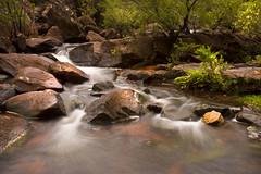 Glenbrook Gorge (edwinemmerick) Tags: longexposure blue trees plants mountains 20d nature water creek canon river eos rocks stream australia filter nsw slowshutter edwin nd8 glenbrookgorge emmerick edwinemmerick