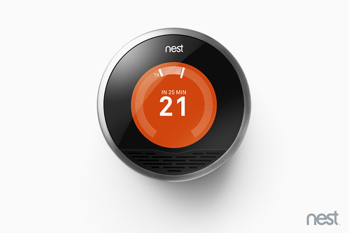 Nest Learning Thermostat showing Celsius