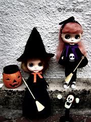 Giovana e Mabelle estão prontas para o Halloween