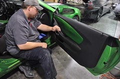 "2011 Synergy Green Camaro 5th Gen custom door panel install • <a style=""font-size:0.8em;"" href=""http://www.flickr.com/photos/85572005@N00/6302943951/"" target=""_blank"">View on Flickr</a>"