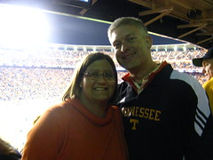 Jeni and Dean in Neyland Stadium