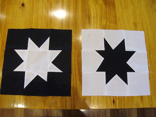 Wonky star quilt blocks by AndreaAMM