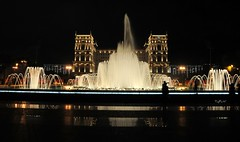 A night at City (Tay-FUN) Tags: water pool night reflections baku su gece yansima fiskiye havuz baki