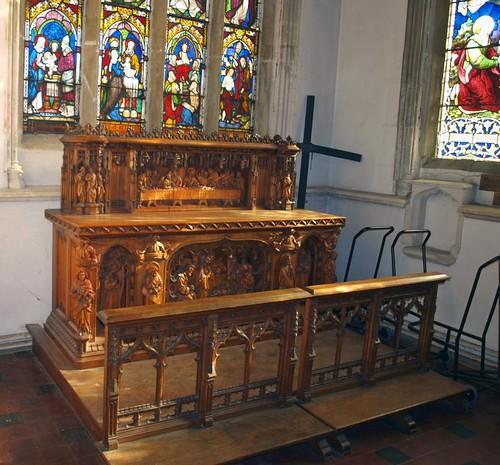 South chapel altar