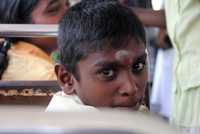Bus Ride in Pusselawa, Sri Lanka