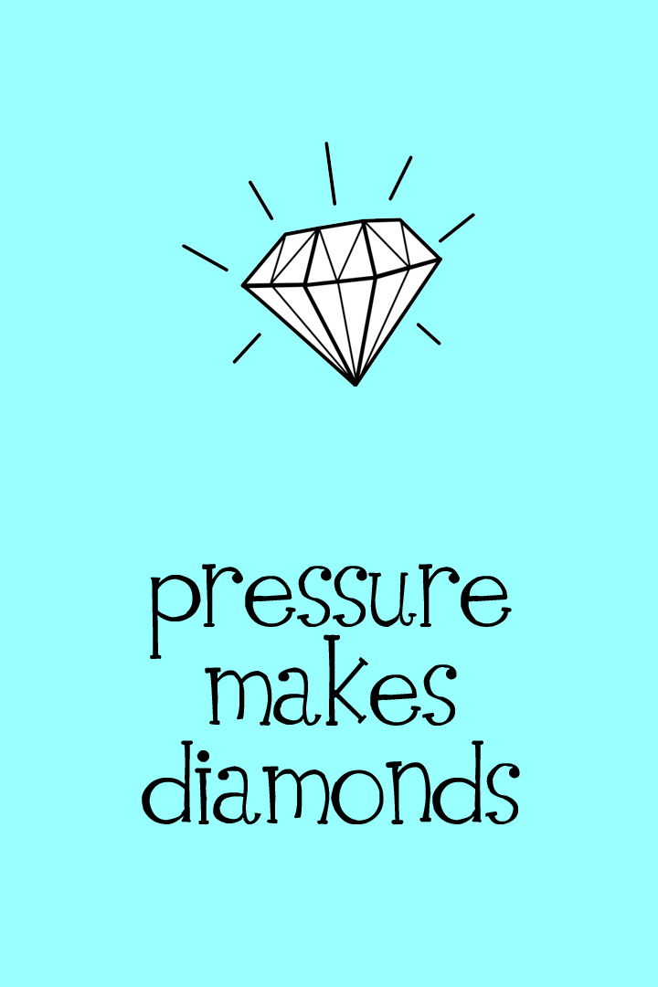 Pressure Makes Diamonds - 4x6 - Blue