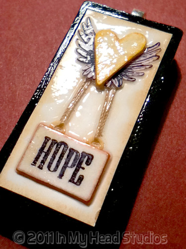 Hope Stays Alight Domino Pendant