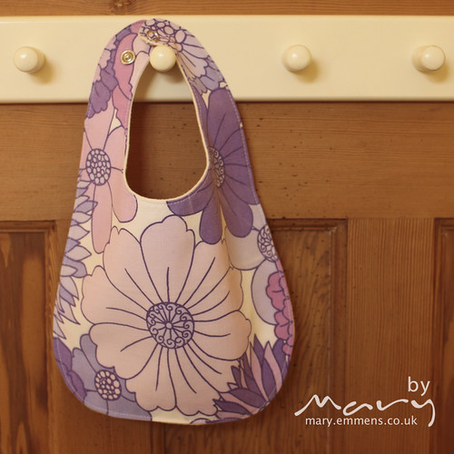 Vintage floral purple bib