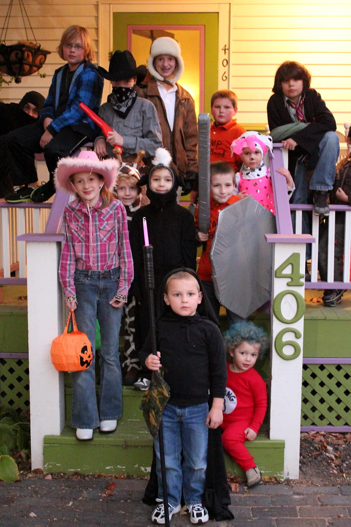 the whole trick or treating crew