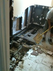 My bathroom being demolished