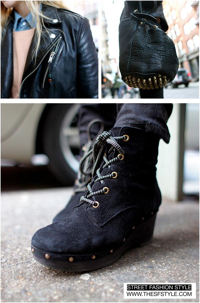 LeatherPrepMontage  streetstyle fashion blog New York SFS thesfstyle STREETFASHIONSTYLE JT Tran Dyanna Dawson