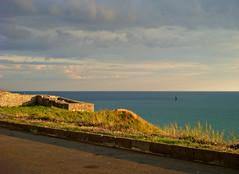 Kaliakra fortress and the Black Sea (CameliaTWU) Tags: sunset bulgaria peninsula fortress blacksea kaliakra