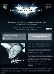 111109(2) - 作曲家「漢斯·季默」邀請18歲以上的全球網友歌唱詠嘆,將收錄在2012年暑假大片《黑暗騎士崛起》電影配樂內! (1/3)