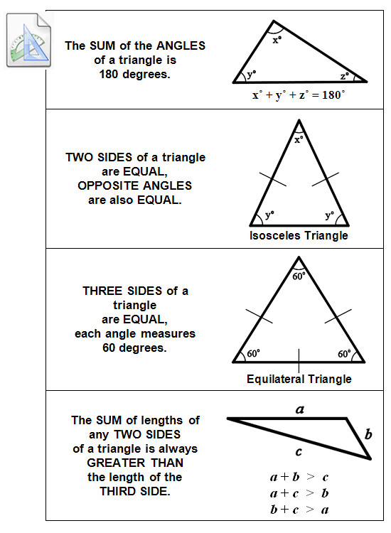 Here are the basic SAT triangle side and angle rules you need to know ...