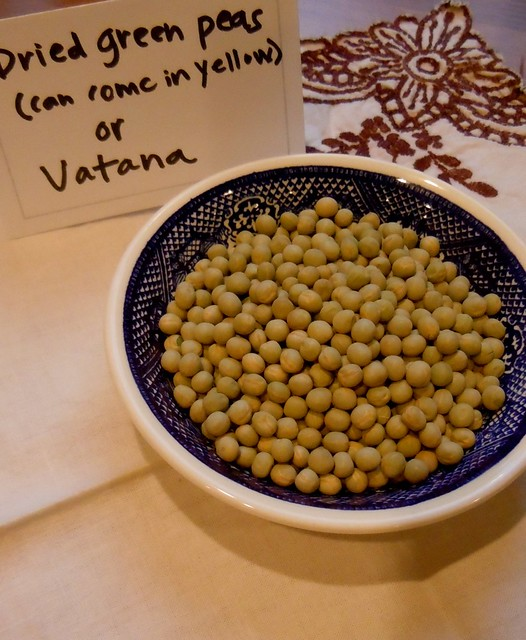 Dried green peas or vatana