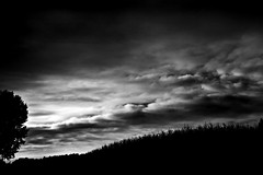 We are living rainy days - Stormy weather (Strlicfurln) Tags: bw storm monochrome clouds canon nuvole bn bianconero temporale blackwhitephotos