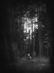 And the background's fading (Nick Kenrick.) Tags: trees mono alone candid streetphotography solitary zedzap