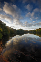 Sunny Days (Ace Clouds II) (Chris Beesley) Tags: reflections day cheshire cloudy lymmdam