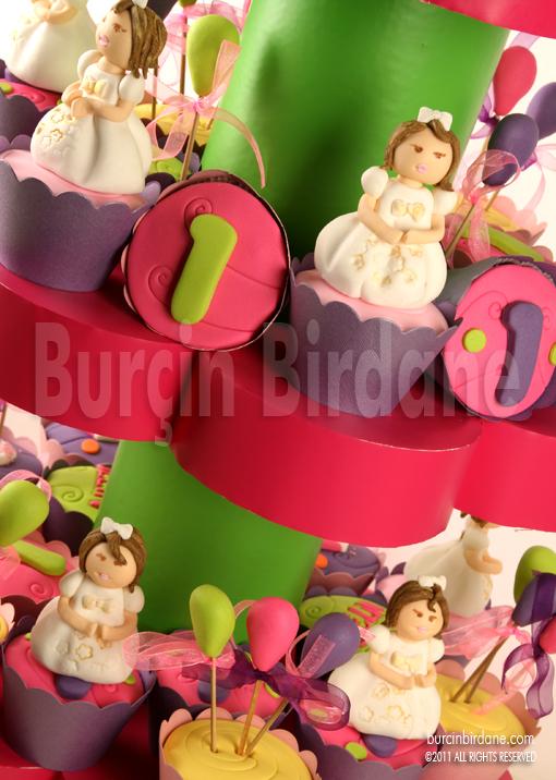 1st Birthday Cupcake Stand 1
