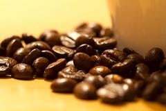 Kaffeebohnen (_MG_5529) (stern.braun) Tags: tasse beige kaffee braun makro kaffeebohnen bohnen weis geruch