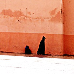 marrakech : the call of the wall (gregjack!) Tags: light people colour texture silhouette wall culture morocco marrakech