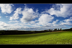 Out in the Fields [explored] (Sebastian.Schneider) Tags: road trees summer sky panorama cloud plant nature weather clouds rural forest germany way season landscape outdoors deutschland countryside scenery day hessen cloudy outdoor horizon country natur scenic wiese himmel wolken scene line explore growth pasture land environment gras landschaft wald plain bume westerwald hugin mittelgebirge waldaubach breitscheid ldk explored entdecken lahndillkreis lahndill mygearandme mygearandmepremium mygearandmebronze mygearandmesilver mygearandmegold mygearandmeplatinum rabenscheid artistoftheyearlevel2 musictomyeyeslevel1 meaedow