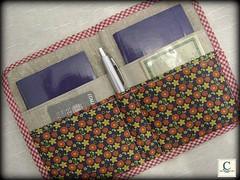 Porta Passaporte (.Claudia Lemos.) Tags: design handmade embroidery artesanato craft case viagem bordado claudialemos portapassaporte