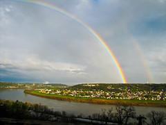 Double Rainbow At Eden Park Yesterday. (HollyannH) Tags: park ohio photography rainbow mine photos cincinnati double eden