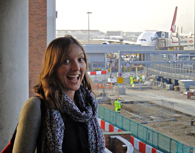 London Heathrow - Mar 2012 - Daughter Pleased To Be Home