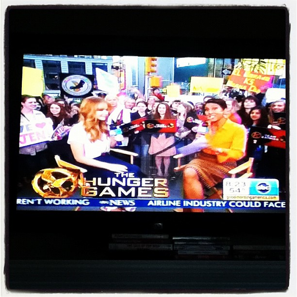 #JenniferLawrence Talks To #RobinRoberts On #GMA About #HUNGERGAMES