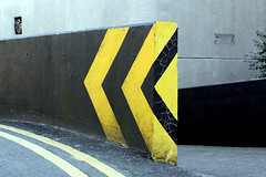 (Delay Tactics) Tags: black lines yellow campus university place leeds hilary double chevrons