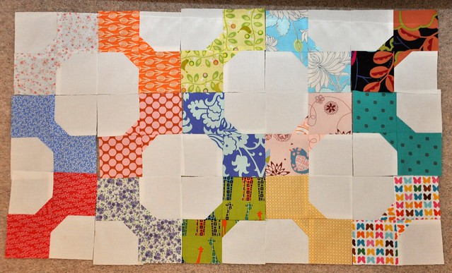 Bow Tie Quilt in progress (3/10)