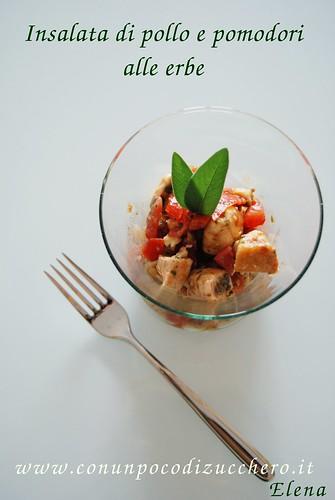 Insalata di pollo e pomodori