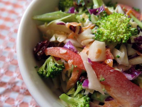 Awesome Slaw = Creamy Asian Vegetable Slaw | Poppytalk