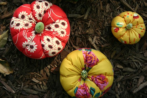 Fabric Pumpkins - top