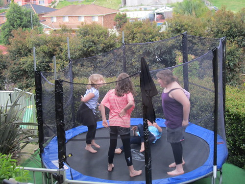 Dancing on the trampoline