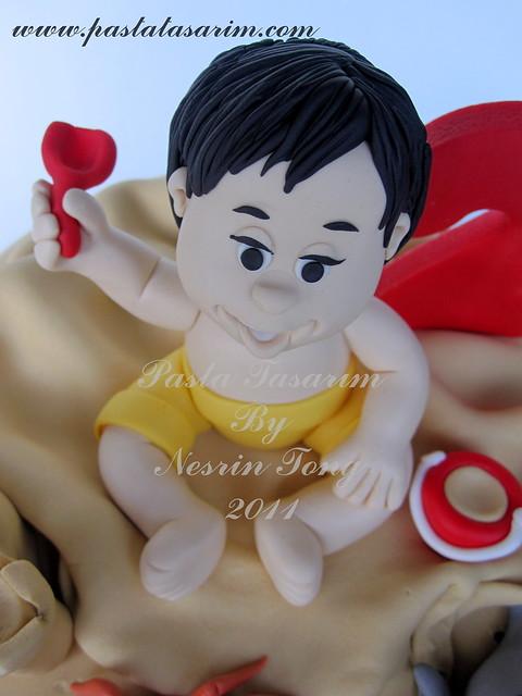 BATU IN THE BEACH - 2ND BIRTHDAY CAKE