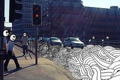 Road (Sam-Cox) Tags: street red portrait people urban sculpture woman whi