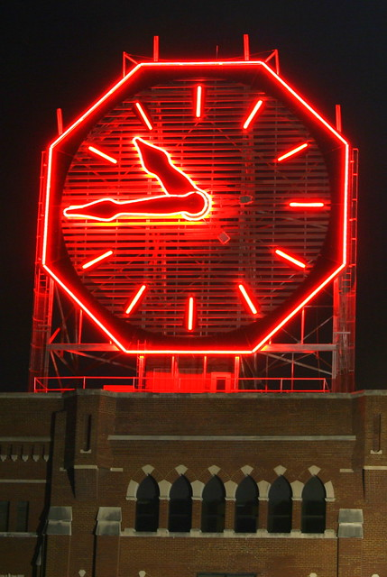 Colgate Clock at night - Clarksville, IN