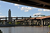 (Laser Burners) Tags: bridge ny newyork river boat highway navy overpass albany hudson battleship rustbelt citynoise 766 ussslater