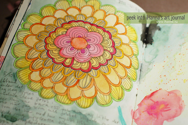 Peek into my art journal: a yellow flower