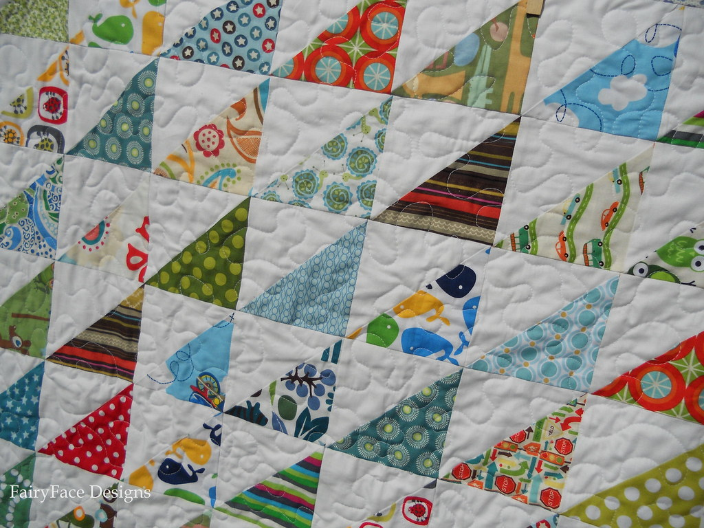 Fairyface Designs Double Trouble Baby Boy Quilt Finishes