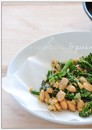 broccolini & pine nuts2