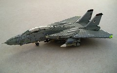 VF-14 'Tophatters' F-14A Tomcat (Mad physicist) Tags: lego aircraft military models usnavy cvw8