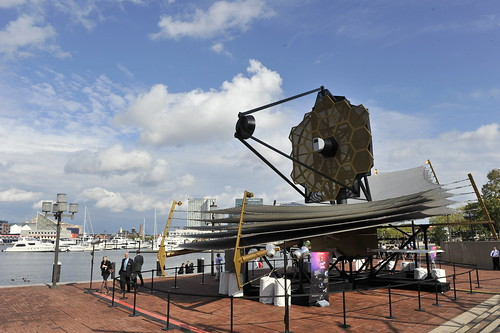 Giant-Sized Webb Space Telescope Model 'Lands' in Baltimore