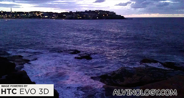 The sky was still dark when we arrived at Bondi Beach
