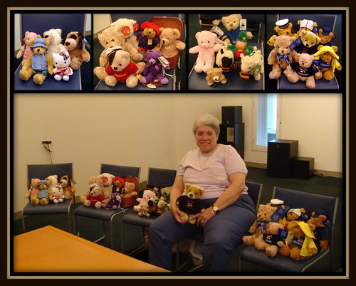 My Teddy Bears and Stuffies from my 2011 trip to the UK.