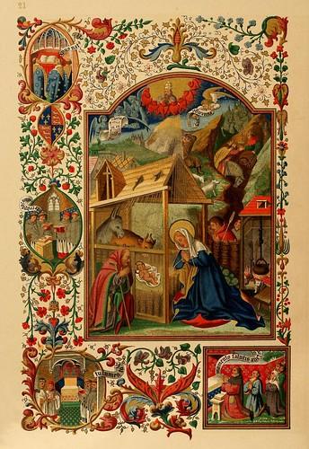 007-El santo dia de Navidad-lamina portada-Les évangiles des dimanches et fêtes de l'année –Vol 1- 1864- Leon Curmer
