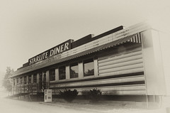 Starlite Diner (Just Joe ( Finally getting the hang of this)) Tags: old blackandwhite vintage nikon diner arkansas dailyphoto joint hss foodjoint 365group startswithj odc2 ourdailychallenge slidersunday