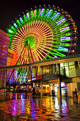 - Miramar Ferris Wheel - Taipei (urbaguilera) Tags: city light color rain wheel night photoshop reflections noche lluvia long exposure theater daniel taiwan colores pro ferriswheel movies nik taipei   31 miramar   aguilera reflejos larga  exposicin  ruedadelafortuna cs5 efex miramarentertainmentpark miramarferriswheel urbaguilera